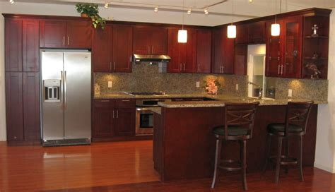 Kitchen Cabinet Hardware San Jose by American Cherry Shaker Style Cabinets With Butterfly