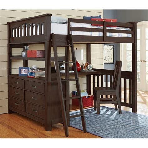 kids loft bed and desk ne kids highlands full loft bed with desk and shelf in
