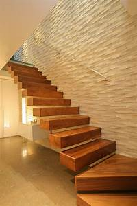 wall texture staircase contemporary with wooden novelty
