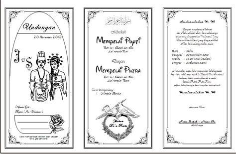 membuat undangan pernikahan sederhana gudang informasi