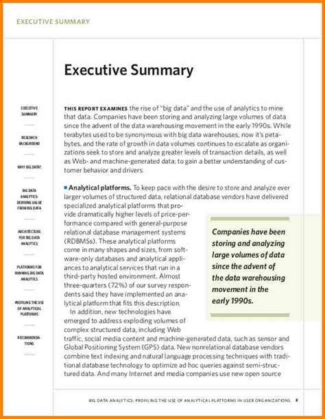 6 exles of executive summaries resume reference