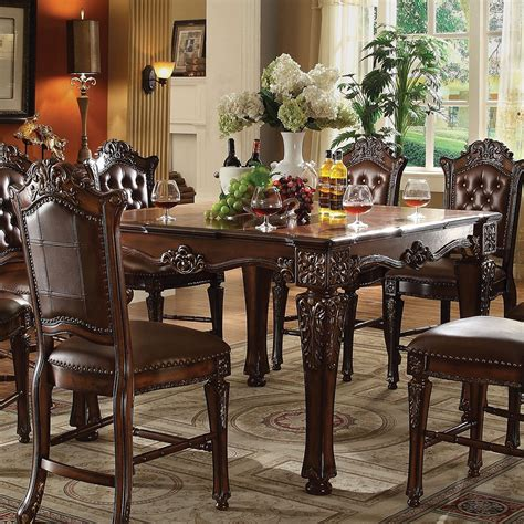 54 square dining table vendome formal 54 quot square counter height dining table in 3925