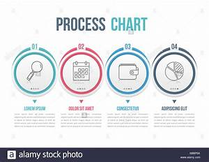 Process Diagram Template With Circles  Flowchart Or