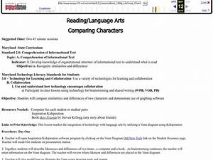 Comparing Characters Lesson Plan For 4th