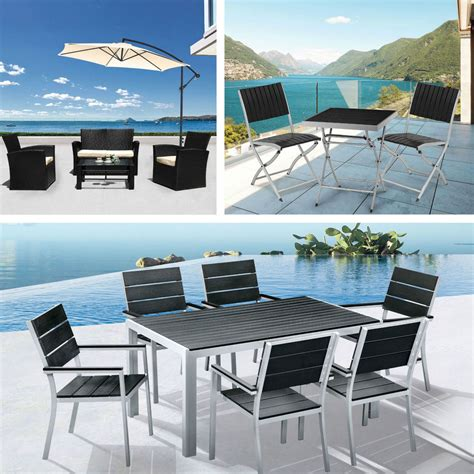 outdoor garden dining patio furniture sets rattan table