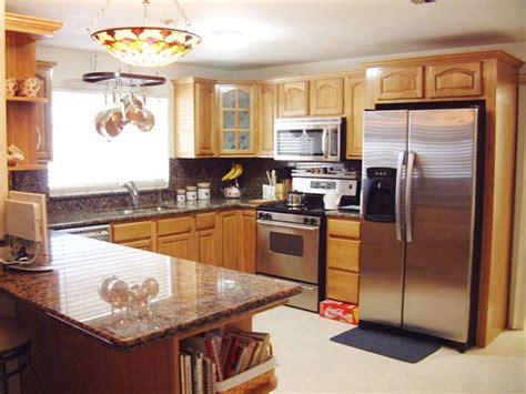 Honey Oak Kitchen Cabinets Home Design  Traditional