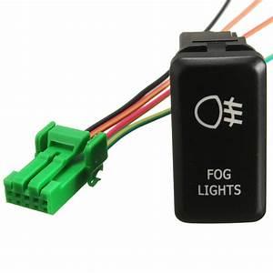 Green Led Fog Light Push Switch For Toyota Fj Cruiser Prado Hilux Landcruiser