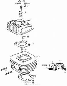 Cylinder   Cylinder Head For Honda Mr50