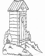 Outhouse Coloring Pages West Clipart Duck Hunting Clip Wagon Cliparts Drawing Covered Newfoundland Colouring Books Quilt Patterns Line Sheets Library sketch template