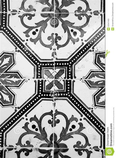 ceramic tile with black and white pattern stock image image 53347403