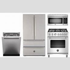 Bertazzoni 4piece Stainless Steel Kitchen Appliance