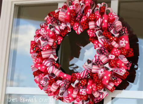 valentines day ideas charming ribbon wreaths  adorn