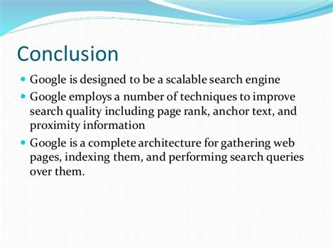 Google Search Engine System Analysis