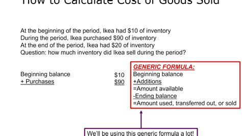 how to calculate cost of goods sold youtube