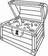 Treasure Chest Drawing Coloring Open Opened Map Box Pirate Pages Inside Drawings Sheet Getdrawings Getcolorings Printable Paintingvalley sketch template