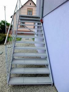 escalier exterieur avec dalles de terrasse metal concept With escalier de terrasse exterieur