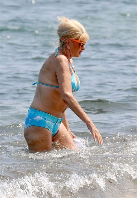 trump ivana bikini beach zimbio