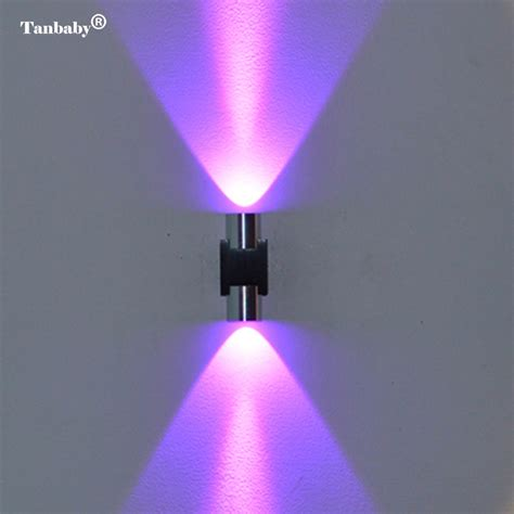 tanbaby 2w led wall light modern wall sconce l ac85 265v wall mounted aluminum lighting