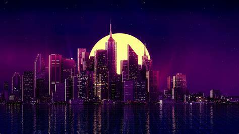 1080p Neon City Wallpaper by 1920x1080 Neon City Buildings Reflection Skycrapper