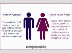 Spruch Männer & Frauen gut gekontert ; Single in der