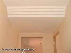 Abbassamento soffitto moderno : Abbassamento soffitto cartongesso con faretti