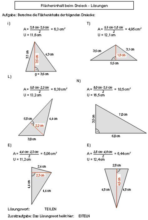 flaechenberechnung beim dreieck