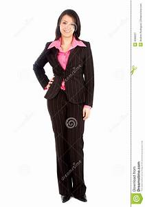 Business woman standing stock image. Image of full, female ...