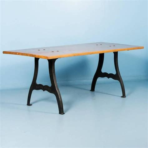 vintage iron table legs for sale antique danish pine dining table with cast iron legs for