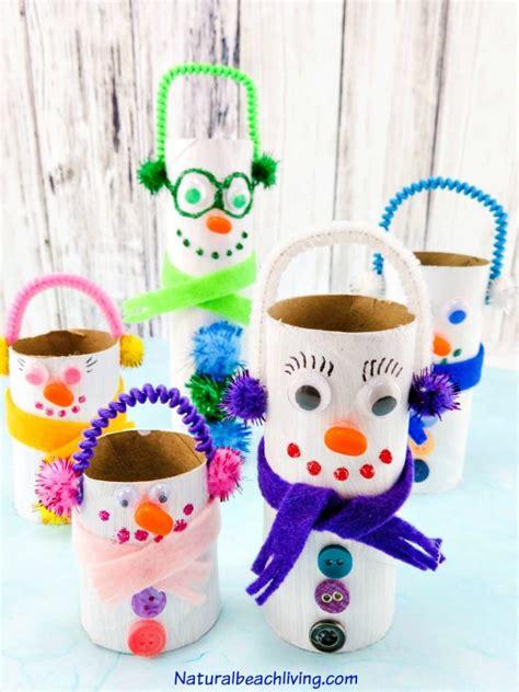 friendly crafts preschoolers will 112   toilet paper roll snowman craft pin1 768x1024