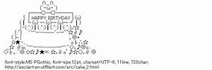 Pin Happy Birthday Ascii Text Art on Pinterest