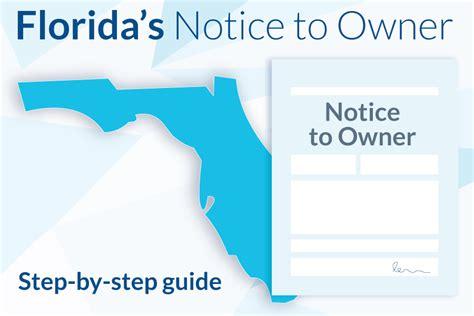 prepare send  notice  owner  florida levelset