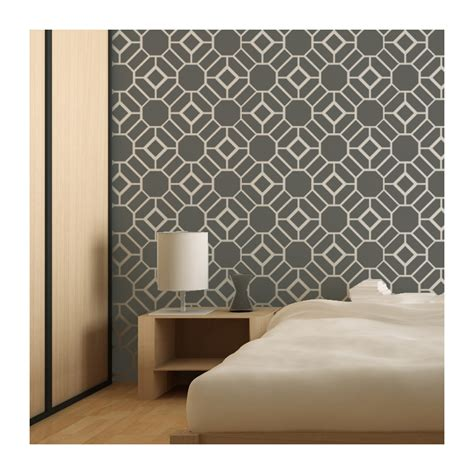 wall stencil large geometric pattern geoffrey for wall decor and more j boutique stencils