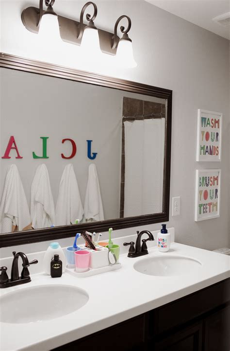 kids shared bathroom decor makeover uptown  elly