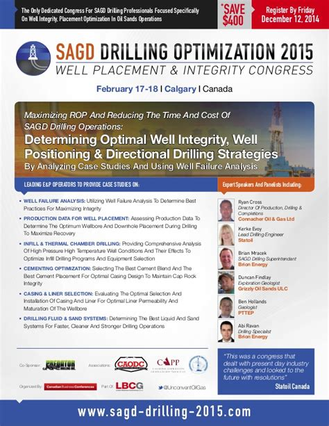 drilling optimization engineer resume sagd drilling optimization 2015 well placement integrity congress