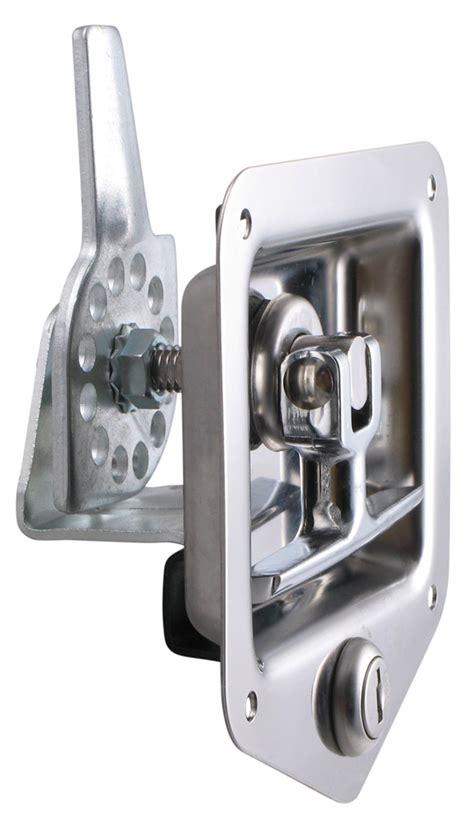 trailer door latch t handle locking stainless steel flush door latch redline