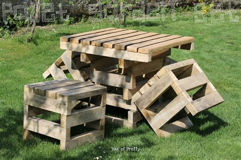 bag of pretty pallet garden furniture