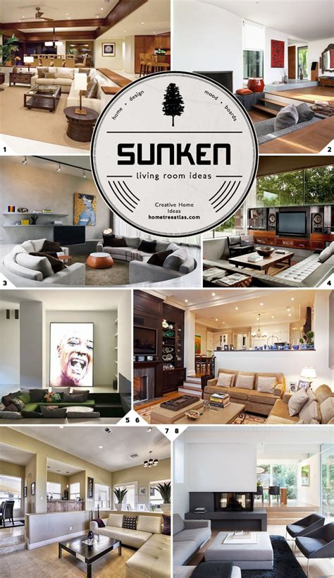 sunken living room ideas  designs home tree atlas