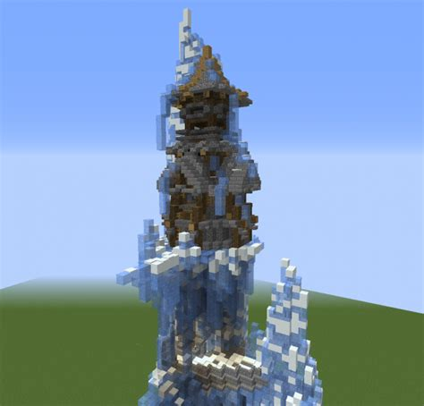 fantasy nordic cliff house  grabcraft  number  source  minecraft buildings