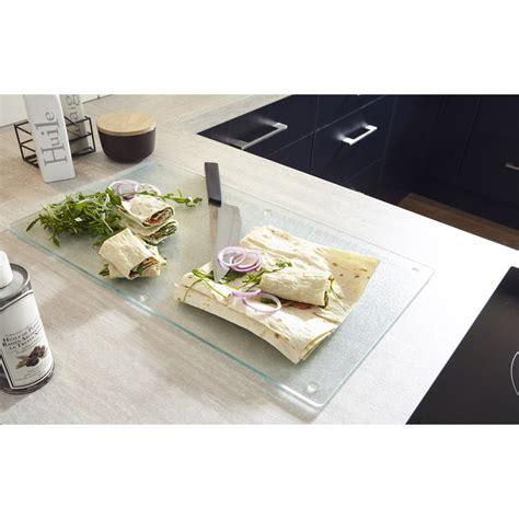 planche pour plan de travail cuisine planche à découper en verre pour plan de travail leroy