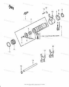 Kawasaki Motorcycle 1980 Oem Parts Diagram For Gear Change