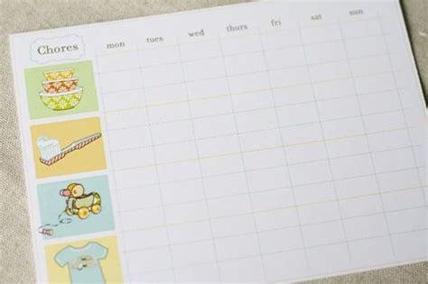 Charts, Chore Charts And Toddlers