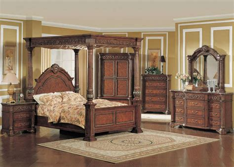 kamella king poster canopy bed luxury bedroom furniture