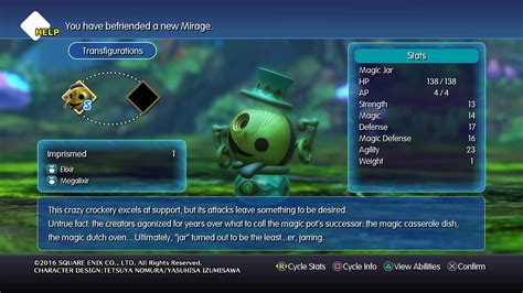 world  final fantasy mirage descriptions
