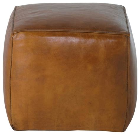 light brown leather ottoman light brown square leather ottoman modern ottomans and