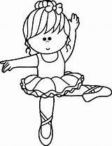 Ballerina Coloring Cartoon Wecoloringpage Pages sketch template