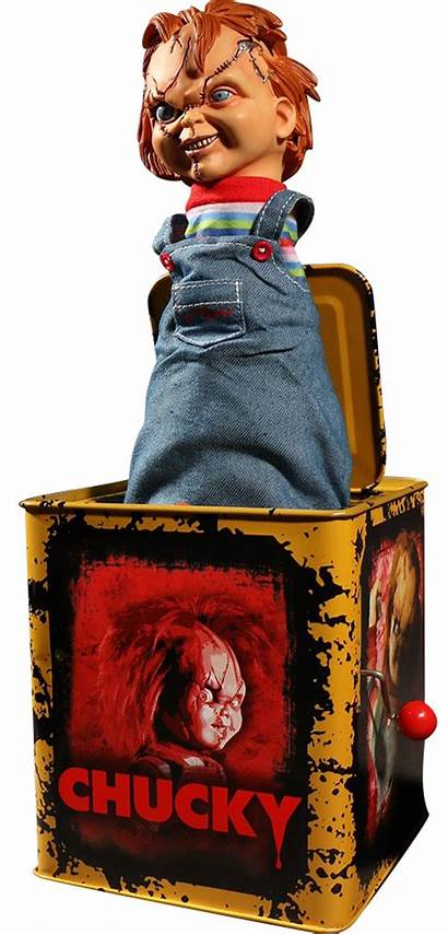 Chucky Box Scarred Burst Collectible Play Childs
