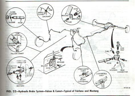 front rear brake diagrams  man   mustang