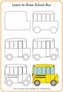 How to Draw a Easy School Bus