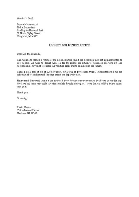 request  deposit refund letter hashdoc landlord tenant