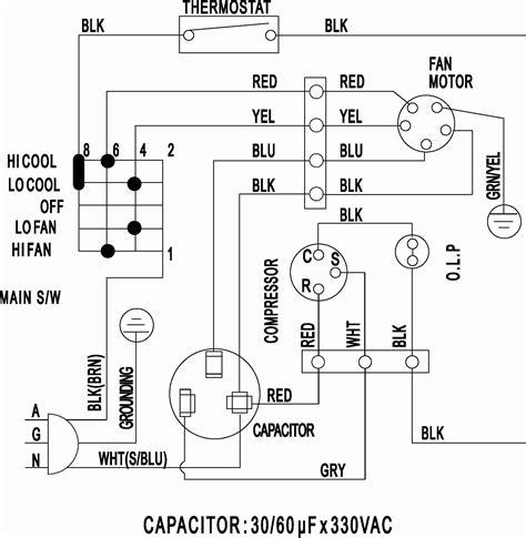Split Air Conditioner Wiring Diagram Sample
